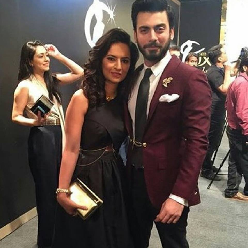 Fawad & His Wife in Lux Style Awards 2015