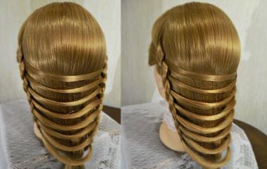How to make a Easy and pretty hairstyle-video