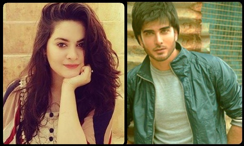 Dubmash video of Imran Abbas & Minal khan