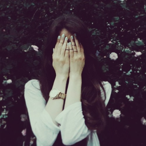 Sad Girl Hidden Face Dps